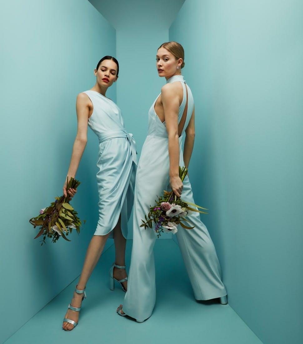 Lege Abendkleidung und Brautjungfernkleider