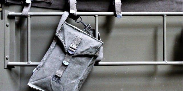 Nachhaltige Tasche aus LKW-Plane