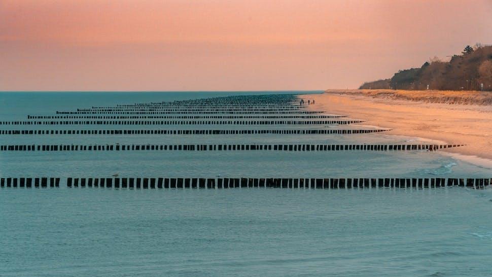 Strand in Deutschland: Darß bei Sonnenaufgang