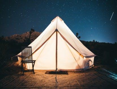 Zelten Zimmer Übernachtung