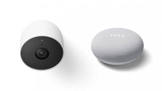 Google Nest Cam und Google Nest Mini