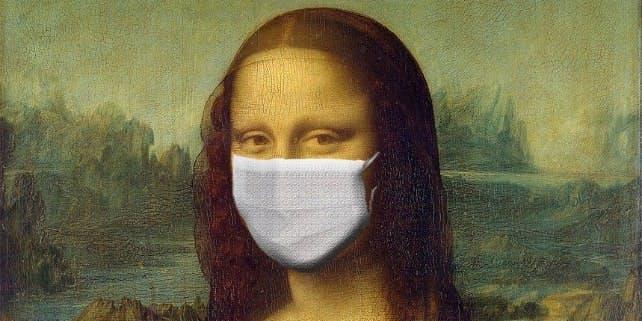 Mona Lisa mit Maske
