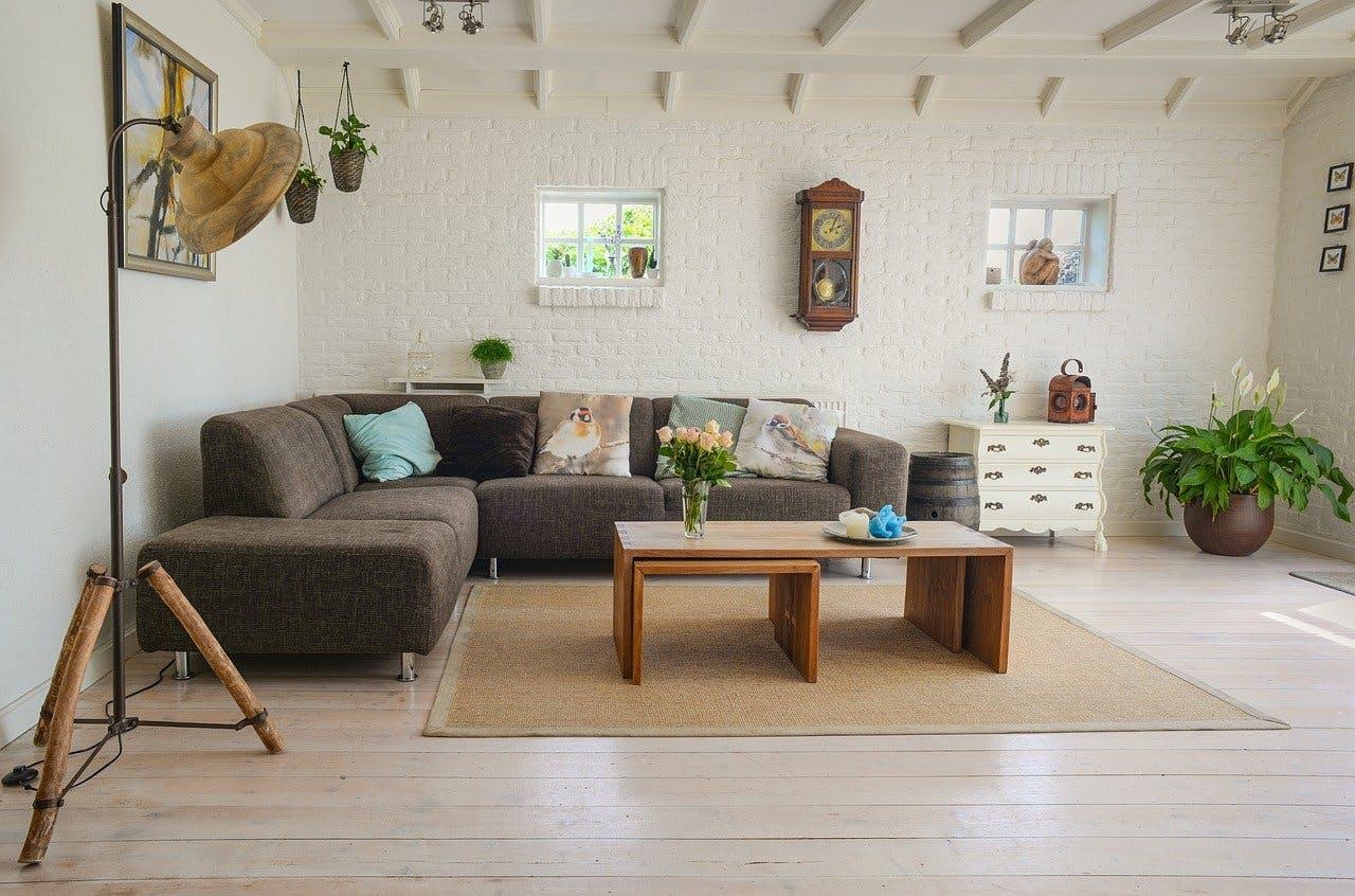 Schön eingerichtetes Wohnzimmer