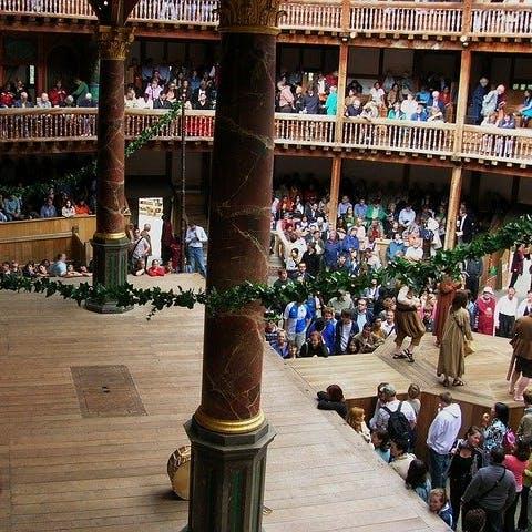 Bühne des Globe Theaters