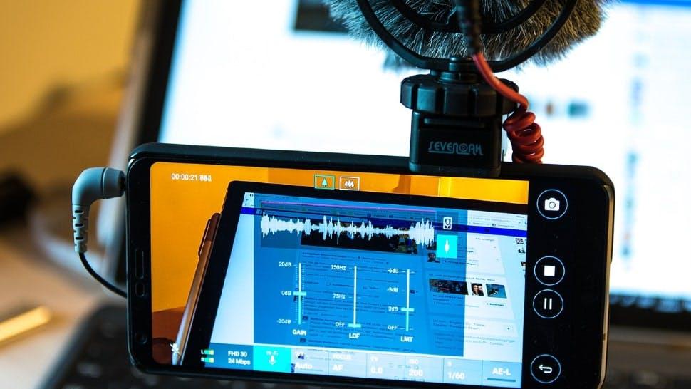 Videoaufnahme eines Bildschirms