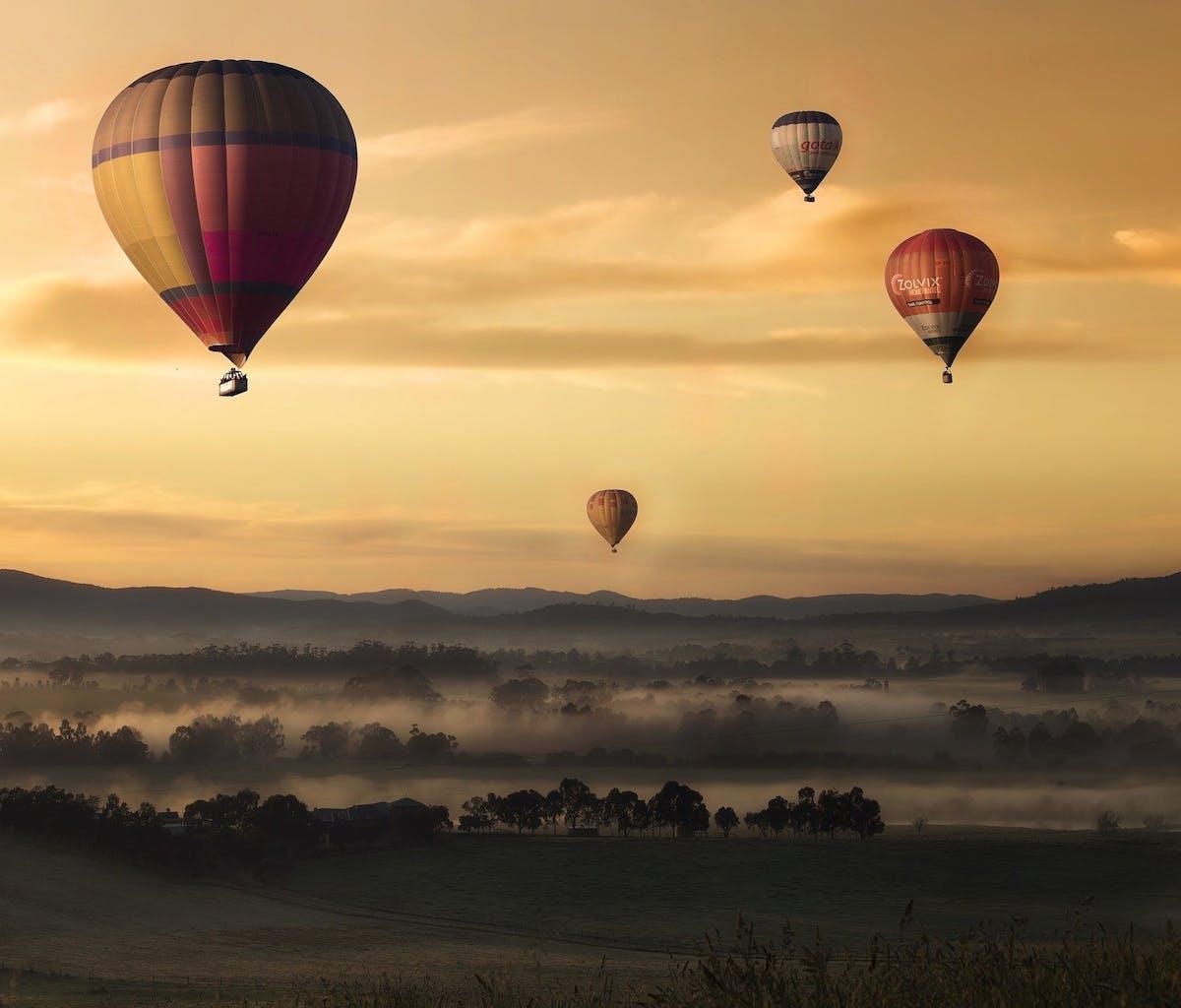 Heißluftballon fliegen