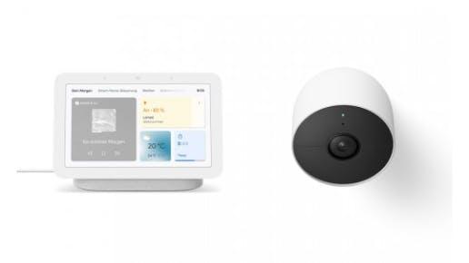 Google Nest Hub 2.0 und Google Nest Cam