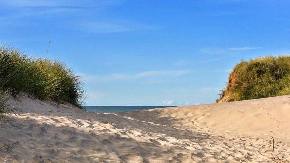 Sanddüne an der Ostsee