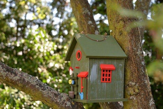 Vogelhaus am Baum
