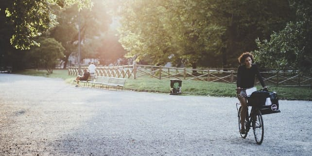 Dienstrad im Park